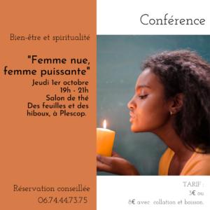 Conférence Femme Nue – Femme Puissante – 1er octobre