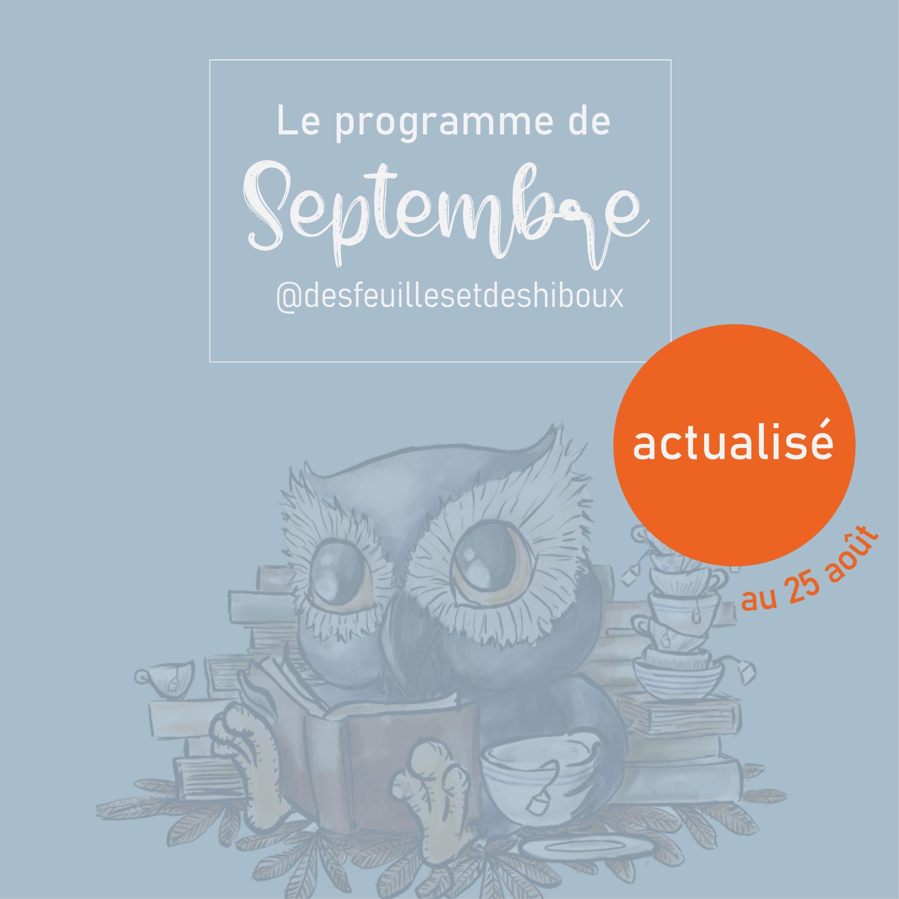 Les activités du mois de Septembre